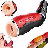 Automatischer Masturbator Nabini Elektrischer Vibrator Sexspielzeug Manner Masturbieren mit 10 Vibrationsmodi Mund Oral Sex Men Cup mit USB Kabel ¡
