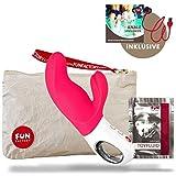 Fun Factory Sex Spielzeug für sie und ihn | 'G5 Sammlung' Wiederaufladbare - Dual Vibratoren Für Sie - Sexspielzeug für Frauen und Sexspielzeug für Mann (Miss BI Rosa Set)
