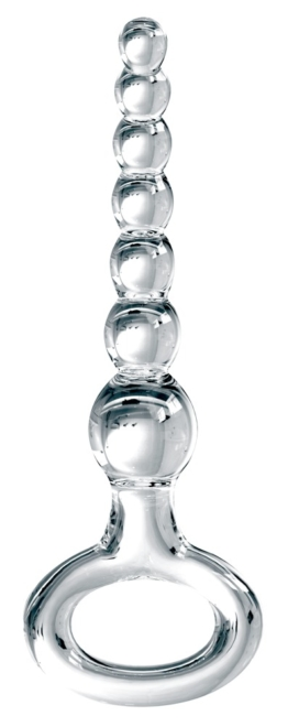 "Analkugelkette ""Icicles No. 67"", Glas, 20,5 cm"